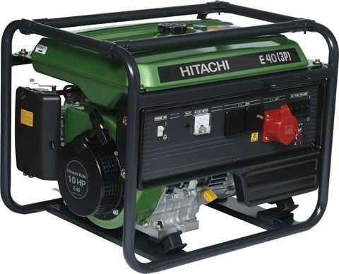 Трёхфазный бензиновый генератор Hitachi E40(3P)