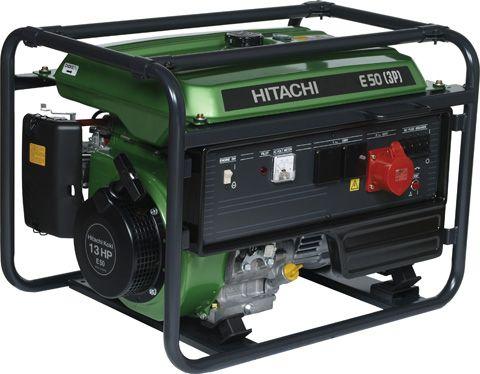 Трёхфазный бензиновый генератор Hitachi E50(3P)