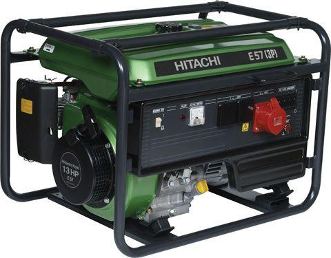 Трёхфазный бензиновый генератор Hitachi E57(3P)