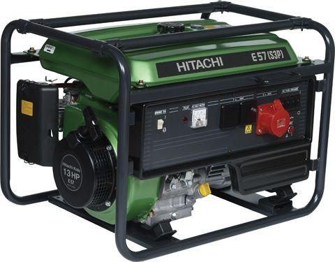 Трёхфазный бензиновый генератор Hitachi E57S(3P)